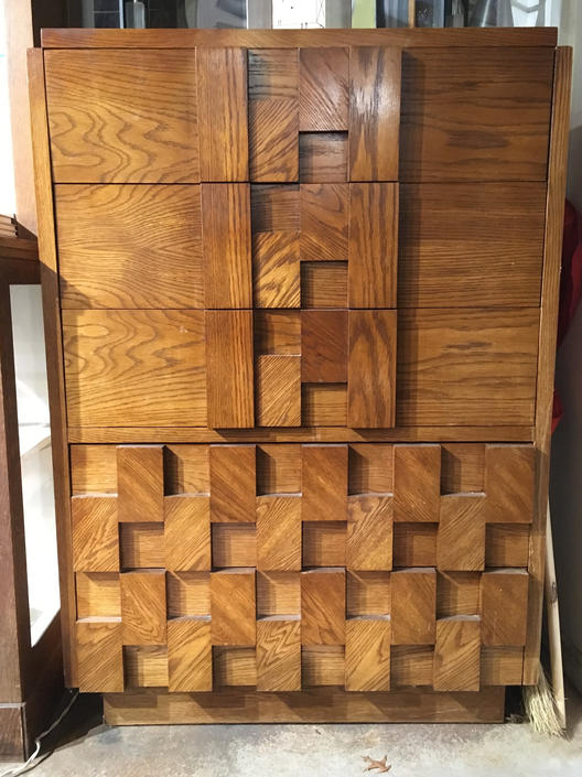 Brutalist Paul Evans Inspired Tall Dresser by bcdrygoods