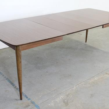 """Mid-Century Modern  Stanley Walnut Surfboard 96"""" Dining Table W 3 Extensions by AnnexMarketplace"""
