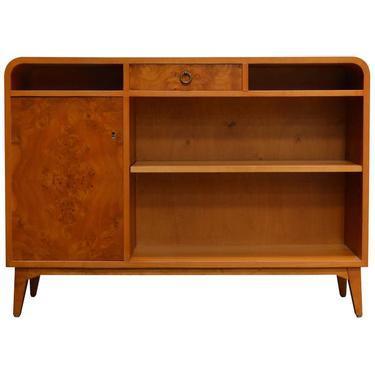 Swedish Mid-Century Bookcase Cabinet Console