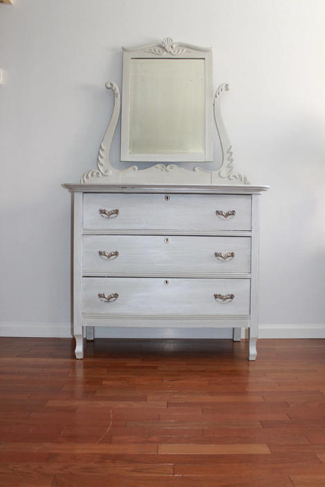 Dresser/small baby changing table by SalvageChicStudio