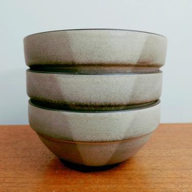 Heath Ceramics Rim Line   (3) Birch Two-Tone Cereal Bowls   Edith Heath   Sausalito CA   1980s by TheFeatheredCurator