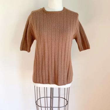 Vintage 1960s Cocoa Brown Sweater Top / S/M by MsTips