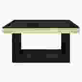 Custom Design Console Table In Lacquered Linen with Black Granite Top 1970s