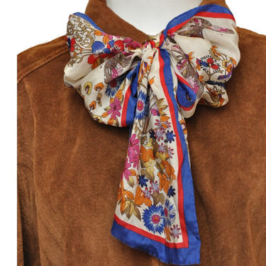 Vintage Oscar de la Renta Silk Floral and Butterfly Print Scarf by TheUnapologeticSoul