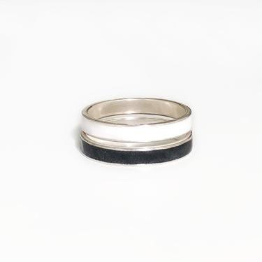 OATHKEEPER rings - sterling silver and polymer clay by ChrisBergmanDesign