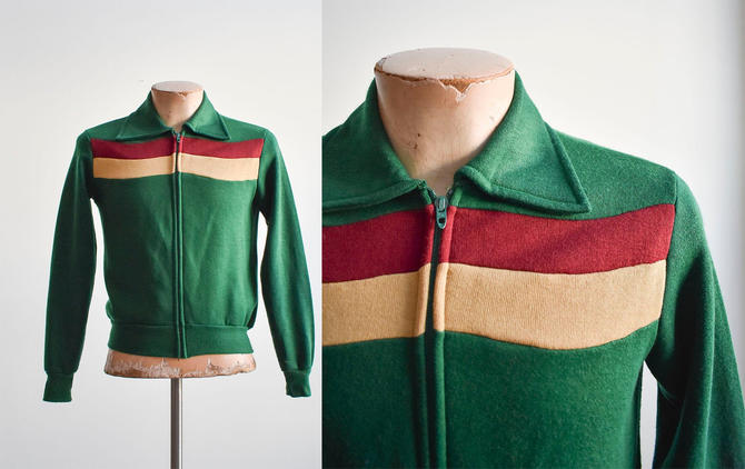 Vintage Green Striped Track Jacket by milkandice