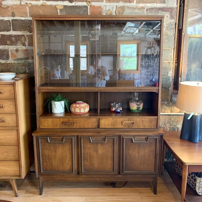Mid-Century Two Piece Hutch