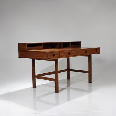 Vintage Danish Jens Quistgaard for Lovig Mid Century Modern Flip Top Desk in Teak by ReVisionFurniture