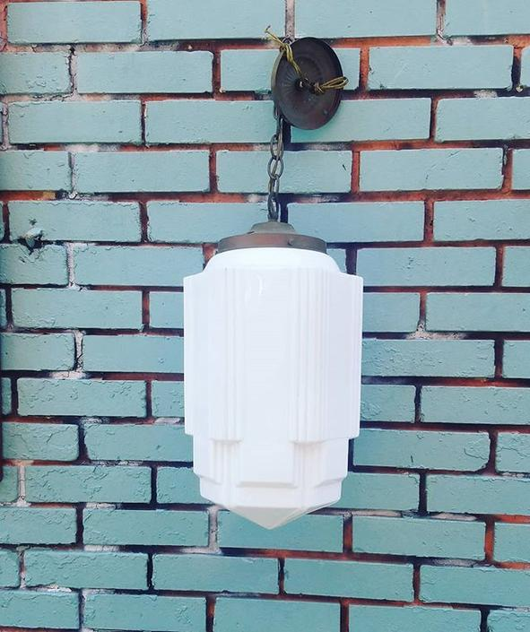 Deco Ceiling Light Fixture. SOLD.