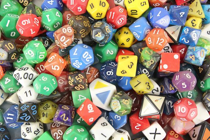 Assorted Polyhedral Numeral Dice by MemoryHoleVintage