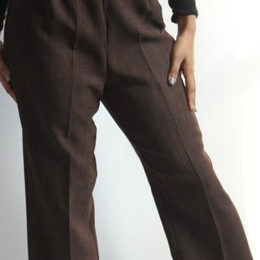 Dark Brown High Waist pants S/M by BeggarsBanquet
