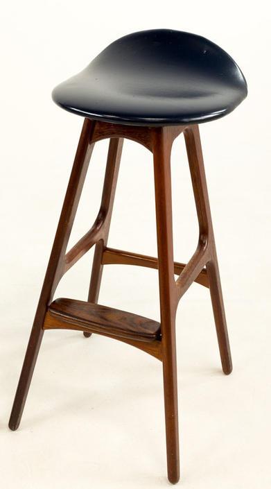 Erik Buck Mid Century Modern Rosewood Bar Stool - mcm by ModernHill