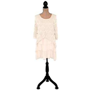 Long Tunic Sweater, Ruffle Mini Dress, Mori Girl Lagenlook, Tiered Layered, Romantic Clothes Boho Clothing, Women Teen Junior by MagpieandOtis