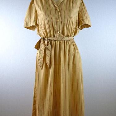 Tan Belted Plaid Grid Short Sleeve Dress by citybone
