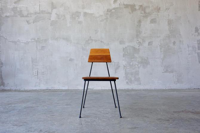 Vista of California Iron & Mahogany Chair. by FandFVintage