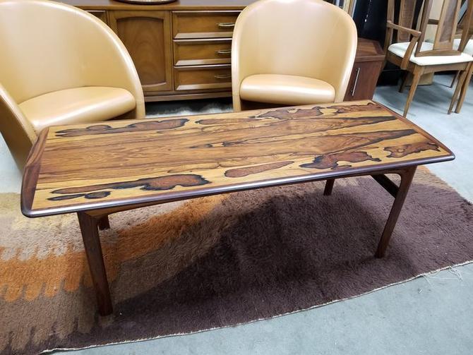 Danish Modern Brazilian rosewood coffee table by Westnofa