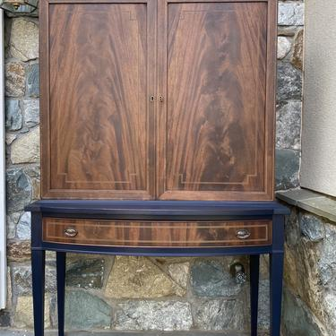 Burled Wood Hutch
