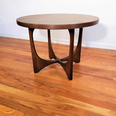 Mid Century Broyhill Brasilia Round End / Side Table by ProRefineFurnishings