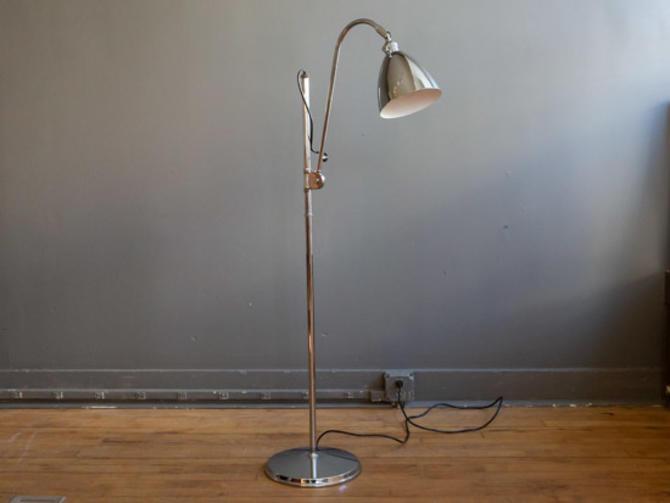 BL3S Chrome Floor Lamp by Robert Dudley Best for Bestlite
