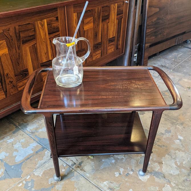 rosewood serving cart by j.l. moller (MCE-7311)