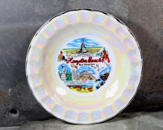 Vintage New Hampshire Souvenir Trinket Dish - Full-Color, Lustrous New Hampshire Souvenir Plate - New Hampshire Souvenir |FREE SHIPPING by Bixley