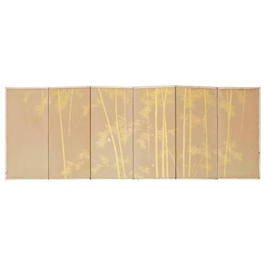 Japanese Miniature Six-Panel Screen Gilt Bamboo Grove by ErinLaneEstate