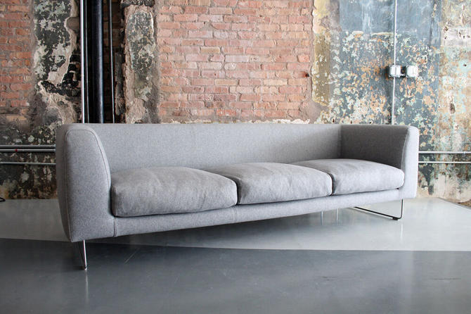 'Elan' Sofa by Jasper Morrison for Cappellini Italy (in grey wool)
