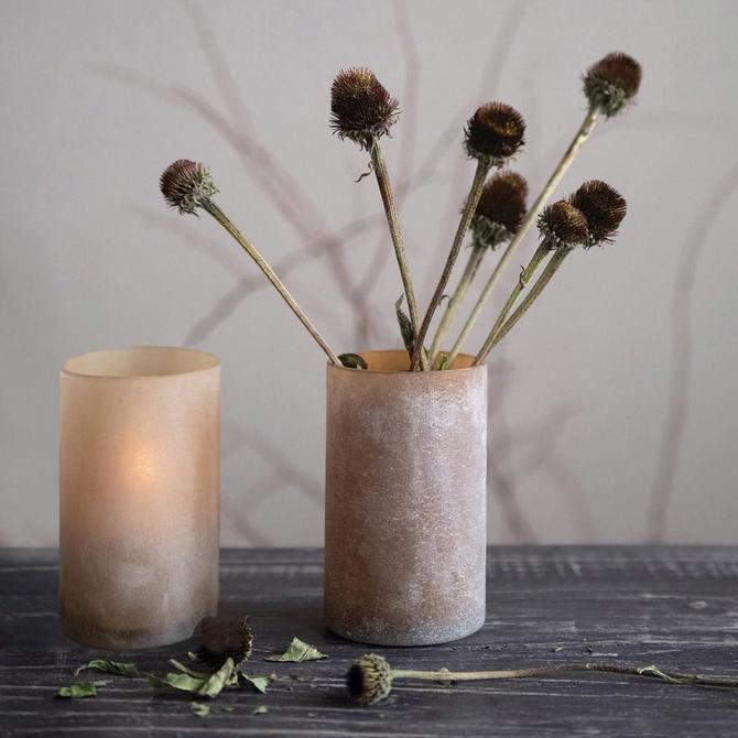Frosted Votive/Vase