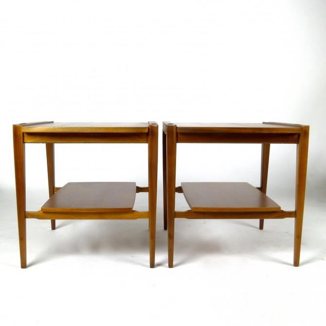 Pair of Walnut Side tables with Rosewood Detail
