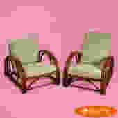 Pair of Ficks Reed Large Chairs