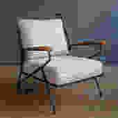 Salterini Iron & Wood Lounge Chair
