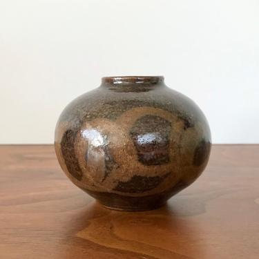 Vintage Mid Century Studio Pottery Weed Pot, Signed Fletcher by TheThriftyScout