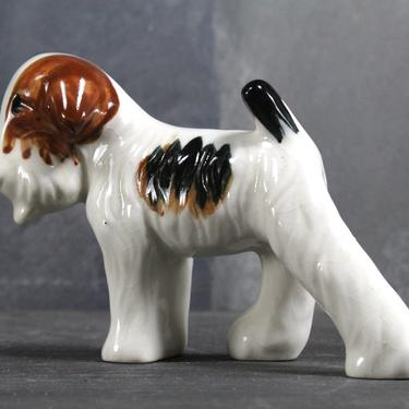 Parson Russel Terrier Figurine - Circa 1950s - Terrier - Puppy Love - Made in Japan - Vintage Jack Russel Terrier Figurine | FREE SHIPPING by Trovetorium