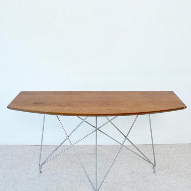 Walnut Surfboard Style Table