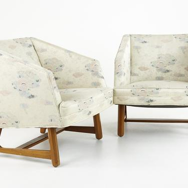 Adrian Pearsall Style Mid Century Walnut Lounge Chairs - Pair - mcm by ModernHill