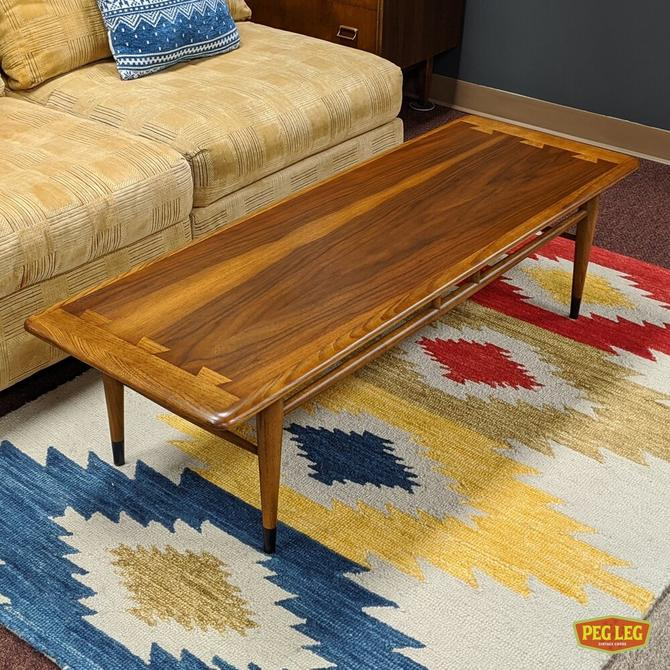 Mid-Century Modern walnut coffee table from the Acclaim collection by Lane