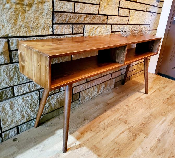 Mid Century Modern Entry Table Sofa Table IN STOCK by OrWaDesigns