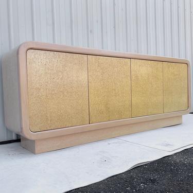 Long Vintage Modern Burl Sideboard or Credenza by secondhandstory