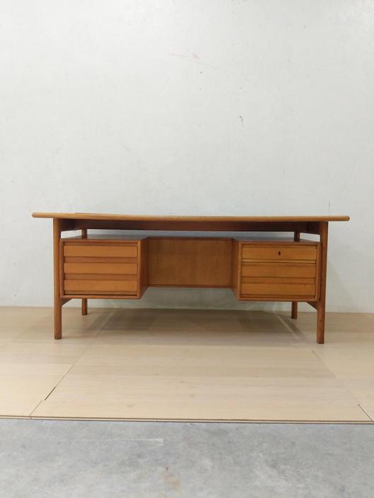 Vintage Danish Modern Oak Desk by FarOutFindsNYC