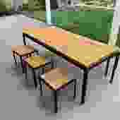 Arthur Umanoff Table And Iron Set
