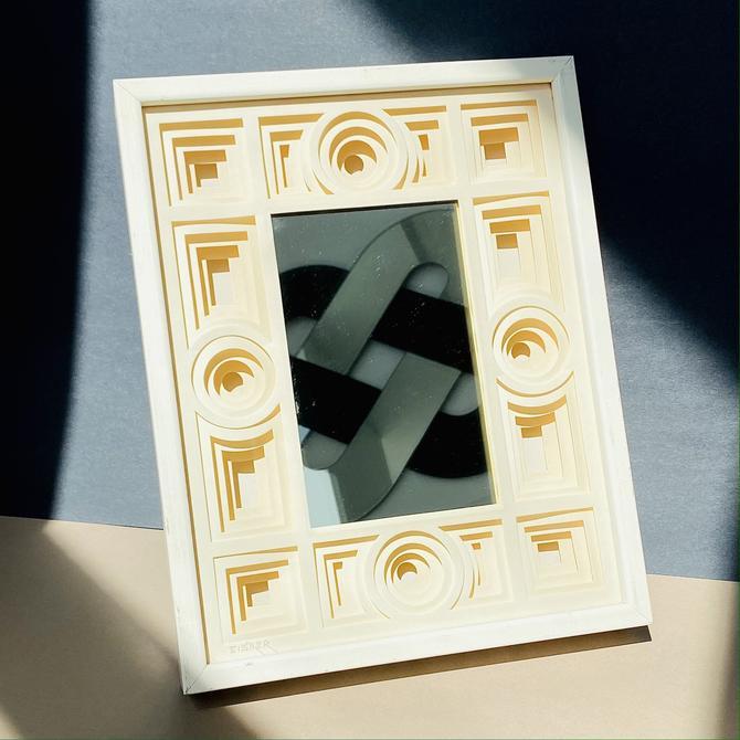 Vintage Jack Eisner 3-D Paper Sculpture Mirror
