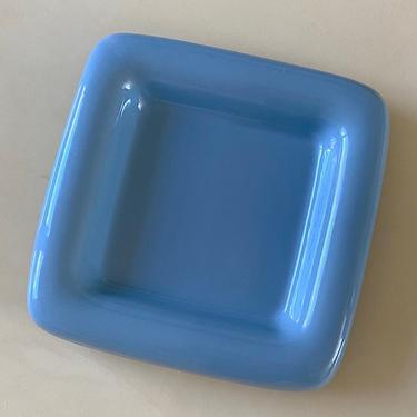 Large Haeger Blue Square Dish