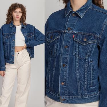 80s Levi's Medium Wash Jean Jacket - Size 42, Men's Small to Medium | Vintage Unisex Denim Trucker Jacket by FlyingAppleVintage