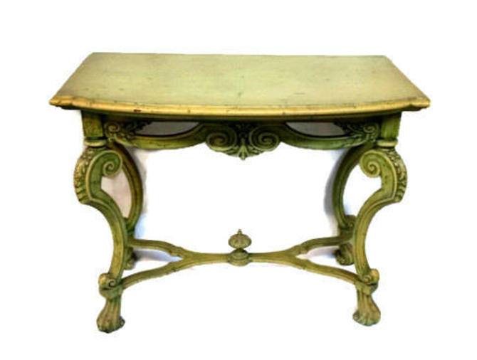 Antique French Baroque Painted Console Table by ModernPicks