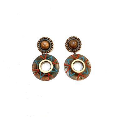 lightweight painted metal earrings by harlowandspring