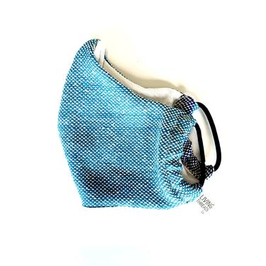 Artisan Woven Face Mask | Turquoise + Navy