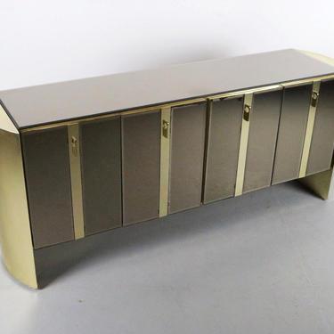 FLASH SALE Ello Mirrored Cabinet Credenza w/ Brass Accents by ABTModern
