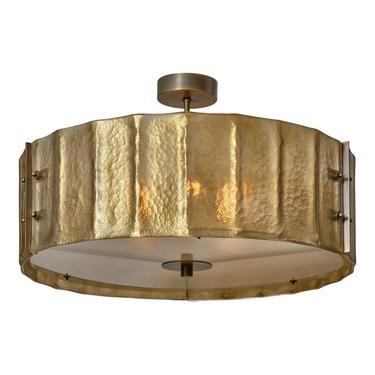 Murano Glass and Bronze Chandelier