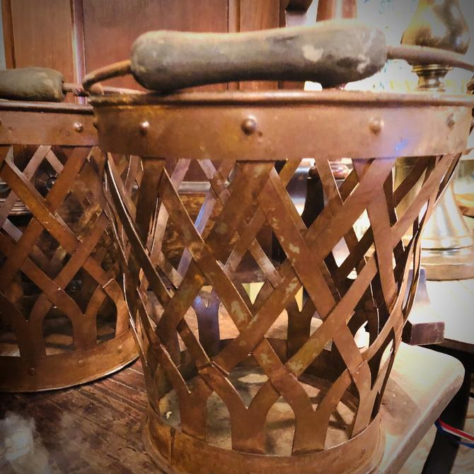 Rusty Metal Basket Buckets