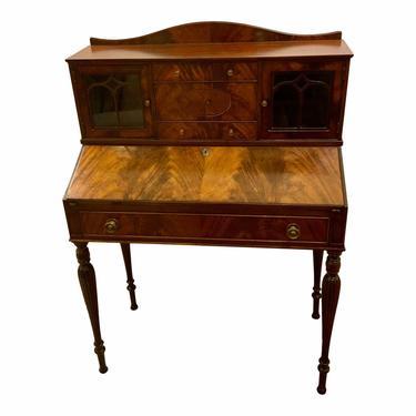 Antique 1920's English Mahogany Secretary Desk